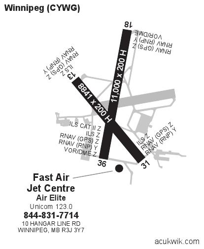 Cywg  James Armstrong Richardson  Winnipeg International General Airport Information