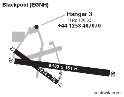 egnh  blackpool general airport information