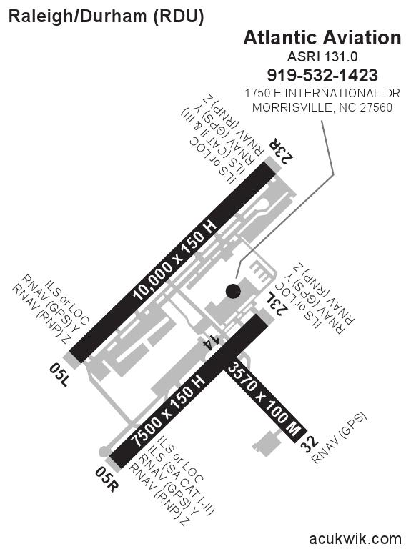 KRDURaleighDurham International General Airport Information