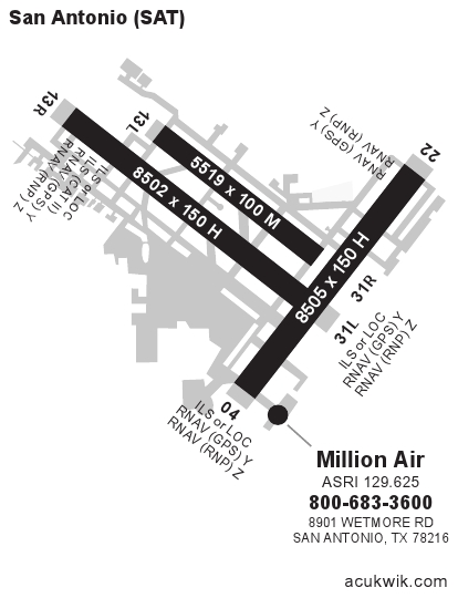 Ksatsan Antonio International General Airport Information