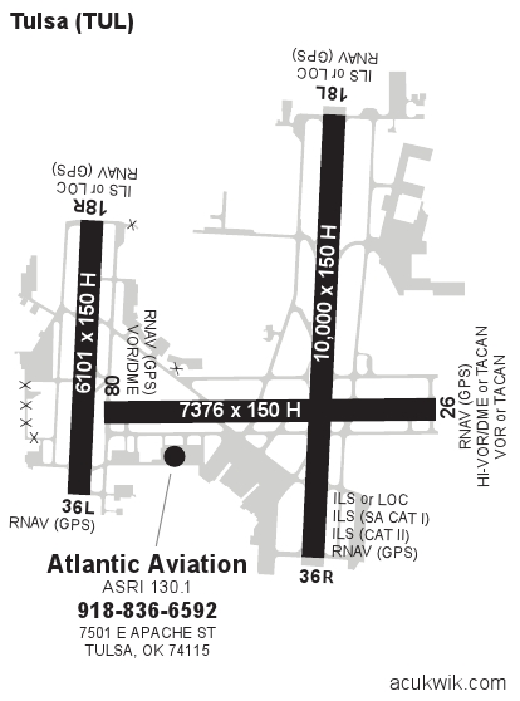ktul  tulsa international general airport information