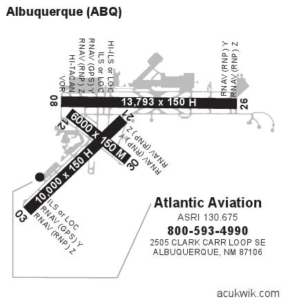 KABQAlbuquerqueSunport International General Airport Information