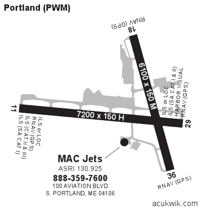 kpwm  portland international jetport general airport