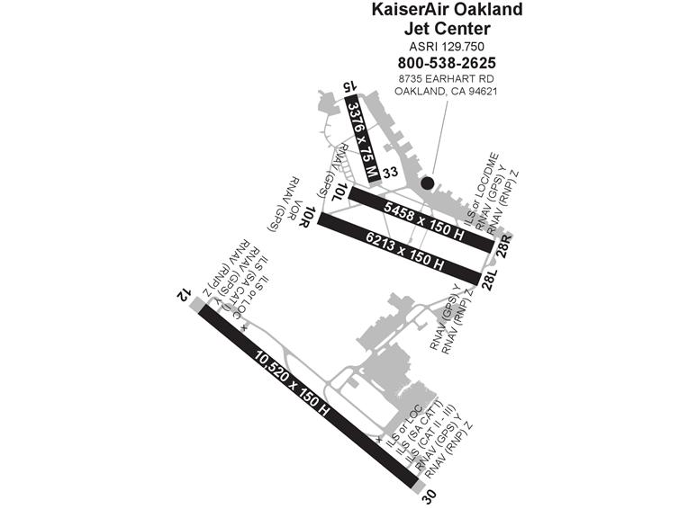 kaiserair oakland jet ctr